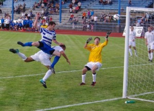 Robbie Christner scores for Kitsap Pumas vs. Real Colorado Foxes in 2011 US Open Cup Second Round