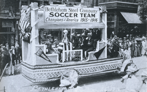 Bethlehem Steel celebrate the club's 1915/1916 National Challenge Cup title.