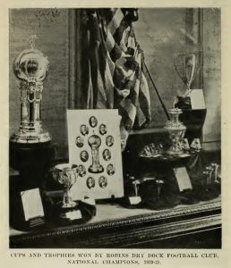 Robins Dry Dock won the 1920/1921 National Challenge Cup title.