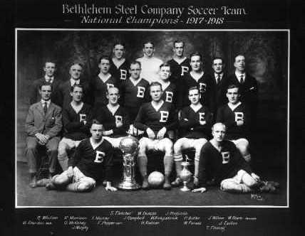 1917/1918 National Challenge Cup champion Bethlehem Steel