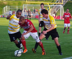 Cal FC (USASA) squares off with the Kitsap Pumas (PDL) in the 2012 US Open Cup.