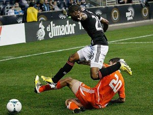 2013 US Open Cup: Philadelphia Union needed a stoppage time winner to beat the Ocean City Nor'easters (PDL). Photo: Philadelphia Union
