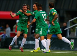 The New York Cosmos defeated the Brooklyn Italians 2-0 in their US Open Cup debut. Photo: New York Cosmos