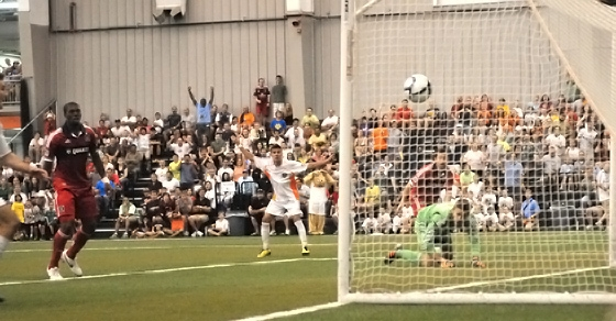 The Michigan Bucks upset the Chicago Fire of MLS in 2012 Third Round. Photo: Kelly Haapala