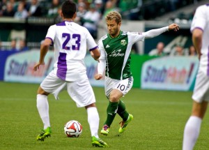 Gaston Fernandez scored a pair of goals for the Portland Timbers in a 3-0 win over the Orlando City U23s. Photo: Craig Mitchelldyer | Portland Timbers