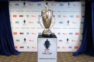 The Westfield FFA Cup trophy. Photo: TheFFACup.com.au