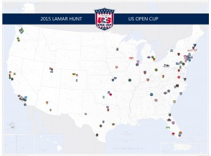 Map of all 91 entries for #USOC2015 posted by 'lookuppage7' on Reddit