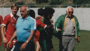 John Rally (foreground)  and Jim Rally (right) founded the Greek American AC back in 1949 and won two US Open Cup titles (1985, 1994). Photo: Greek American AC