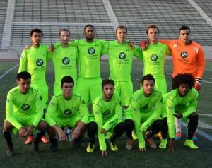 PSA Elite pose for a team photo before their match against Golden Staet Misioneros. Photo: PSA Elite