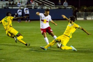 The Jersey Express defense held strong against New York Red Bulls 2 (USL) in the team's second straight shutout. Photo: Bob Larson | Stellar Performance Photography