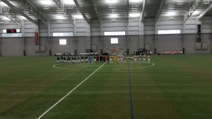 Team introductions for the Portland Timbers 2 and Michigan Bucks at the Ultimate Soccer Arenas in Pontiac, Mich. | Photo: Eric Wasser