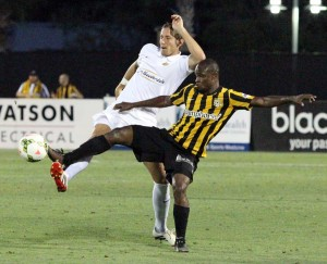 Dane Kelly helped the Charleston Battery rally to beat the Fort Lauderdale Strikers 3-2. Photo: Charleston Battery