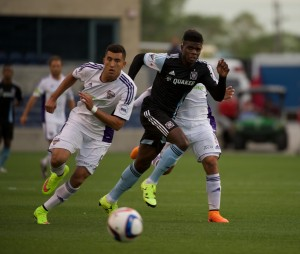 Chicago Fire's Fourth Round hero Quincy Amarikwa has been traded to San Jose. Photo: Chicago Fire