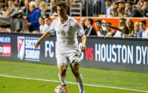 Krisztian Nemeth of Sporting KC, dribbles against the Philadelphia Union in the 2015 US Open Cup Final. Photo: Bob Larson