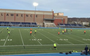 GPS Omens and Southie FC square off in 2016 US Open Cup qualifying at Lawrence Veterans Memorial Stadium in Lawrence, Mass.