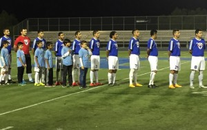La Maquina lines up for player introductions before their 2016 US Open Cup qualifying match with Chula Vista FC. Photo: La Maquina