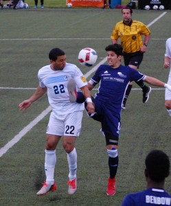 Harrisburg City Islanders vs. West Chester United in the 2016 US OpenCup. Photo: Kari Haffelfinger