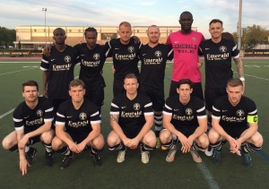 Lansdowne Bhoys pose for a team photo before their 2016 US Open Cup match vs. Long Island Rough Riders.