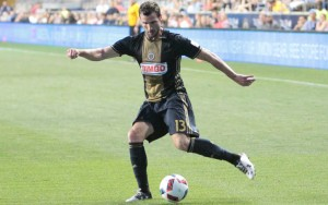 Chris Pontius scored two goals for the Philadelphia Union, his second and third of his US Open Cup career. Photo: Bob Larson