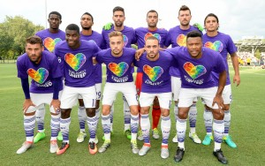 Orlando City SC poses for a team photo before their match against the Jacksonville Armada in the 2016 US Open Cup. Photo: James Drexler