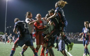 The New England Revolution celebrate after their PK shootout win over the Philadelphia Union. Photo: David Silverman | New England Revolution