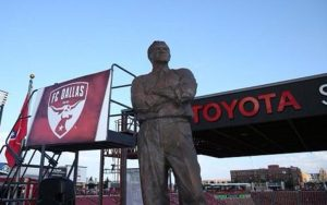 A statue of the late Lamar Hunt on display outside of FC Dallas' Toyota Stadium in Frisco, TX. Photo: FC Dallas