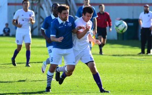 Minneapolis City (left) and Oakland County FC squared off at the National Sports Center in Blaine, Minnesota in the 2017 US Open Cup qualifying tournament. Photo: Daniel Mick   http://www.danielmickcreative.com/USOC-Minneapolis-City-v/