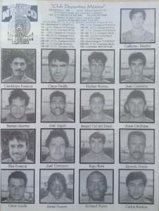 The roster for the 1993 US Open Cup champion CD Mexico (El Farolito)