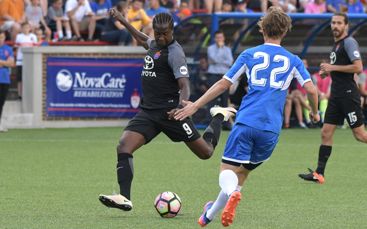 Djiby Fall of FC Cincinnati scored the game-winner against AFC Cleveland in the Second Round of the 2017 US Open Cup. Photo: FC Cincinnati