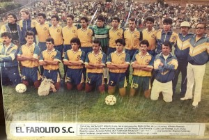 A undated team photo of El Farolito