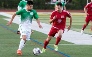 FC Motown (green) defeated New Jersey Copa FC 2-1 in extra time in the First Round of the 2017 US Open Cup. Photo: Bob Larson