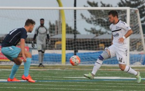 "The Harrisburg City Islanders (white) were taken to penalty kicks by the Ocean City Nor'easters at Carey Stadium (""The Beach House"") in Ocean City, NJ. Photo: Matt Ralph"