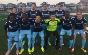 "The Ocean City Nor'easters pose for a team photo at ""The Beach House"", their home field in Ocean City, NJ before their 2017 US Open Cup match against Junior Lone Star. Photo: Ocean City Nor'easters"
