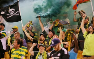 Fans of the Tampa Bay Rowdies celebrate in the Second Round of the 2017 US Open Cup. Photo: Matt May | Tampa Bay Rowdies