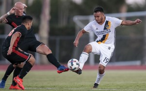 Jaime Villarreal scored a goal for the LA Galaxy in a 3-1 win over Orange County SC in the Fourth Round of the 2017 US Open Cup. Photo: LA Galaxy