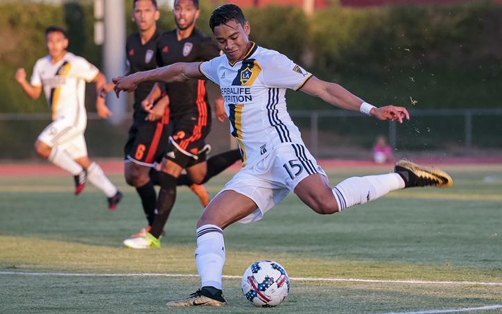 Ariel Lassiter of the LA Galaxy scored a goal in a 3-1 US Open Cup win over Orange County SC (USL). Photo: LA Galaxy