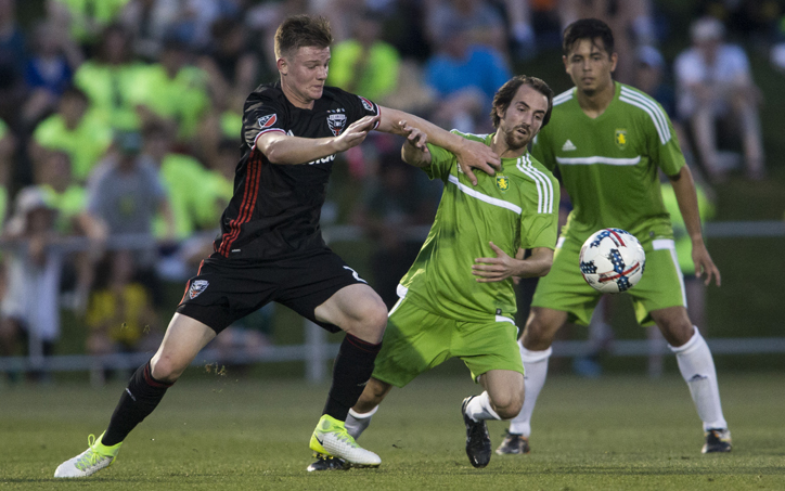 D.C. United scored three late goals to pull away from Christos FC in the Fourth Round of the 2017 US Open Cup. Photo: D.C. United | Tony Quinn