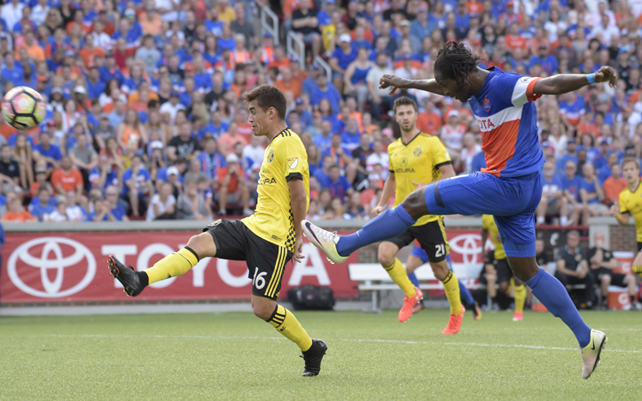 FC Cincinnati earned its first win over an MLS opponent with a 1-0 victory over the Columbus Crew in the Fourth Round of the 2017 US Open Cup. Photo: Brett Hansbauer   FC Cincinnati