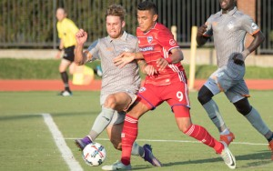 The defending champion FC Dallas battled the Tulsa Roughnecks at Southern Methodist University in the Fourth Round of the 2017 US Open Cup. Photo: FC Dallas