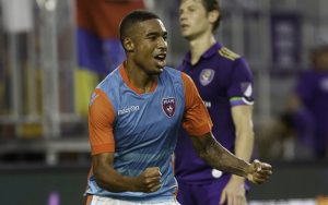 Stefano Pinho of Miami FC becomes the third Brazilian in the Modern Era to score a hat trick in the US Open Cup. The previous two are also Miami-based: Welton of the Miami Fusion (MLS) in 2000 and Paulo Jr. of Miami FC (USL) in 2010. Photo: Miami FC