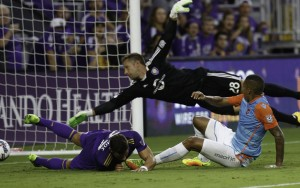 Stefano Pinho of Miami FC scored one of his three goals against Orlando City in the Fourth Round of the 2017 US Open Cup. Photo: Miami FC