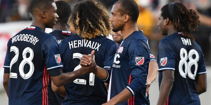 2017 US Open Cup Round 4: New England Revolution capitalize on 10-man Rochester Rhinos in 3-0 win