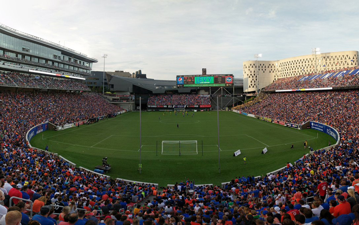 The crowd of 30,160 at Nippert Stadium to watch FC Cincinnati upset the Columbus Crew shattered the Modern Era attendance record for a non-Final. Photo: FC Cincinnati