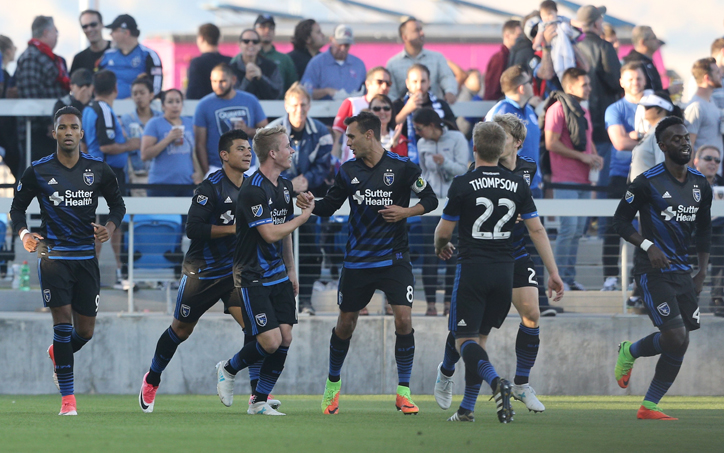 The San Jose Earthquakes won their first US Open Cup meeting with the San Francisco Deltas with a 2-0 win in the Fourth Round. Photo: San Jose Earthquakes