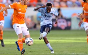 Gerso Fernandes of Sporting KC put the game away with a goal in second half stoppage time in a 2-0 Round of 16 win over Houston Dynamo. Photo: Sporting KC
