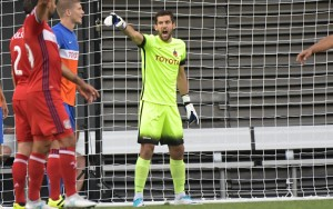 Mitch Hildebrandt made 10 saves and stopped three of the Chicago Fire's four penalty kick attempts to send FC Cincinnati to the Quarterfinals. Photo: Erik Schelkun | FC Cincinnati