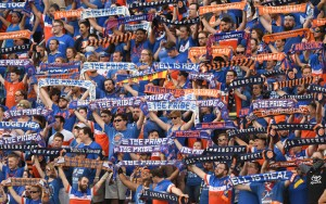 According to TheCup.us records, FC Cincinnati's sold-out crowd of 33,250 at Nippert Stadium for the 2017 US Open Cup Semifinal against the New York Red Bulls was the second-largest crowd to ever witness a tournament game. Photo: Erik Schelkun | FC Cincinnati