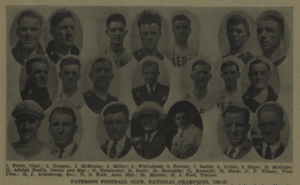 Players and coaches from the 1923 Paterson Football Club. Photo: 1923-24 Spalding Soccer Football Guide