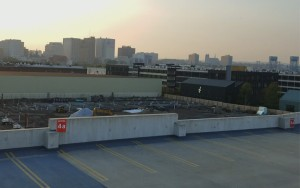 This Sept. 2017 photo was taken from the top of a parking garage in Harrison, NJ that was the former site of Harrison Field, the site of the 1923 National Challenge Cup Final between Paterson SC and Scullin Steel. The parking garage is located near Red Bull Arena, the home stadium for the New York Red Bulls. Photo: Bob Larson