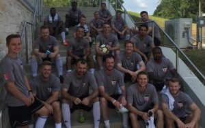 Atlanta-based Majestic SC enjoys the shade before the club's 2018 US Open Cup qualifying match against Lowcountry United. Majestic won 2-0. Photo: Majestic SC